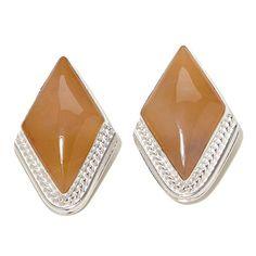 Jay King Regency Rose Agate Sterling Silver Earrings at HSN.com