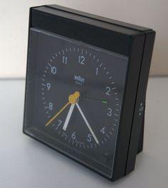 Braun Wecker Type 4774 / AB 50 sl schwarz im Lubs / Rams Design Uhr