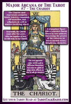 Divination:  Major Arcana of The #Tarot:  #7 ~ The Chariot.