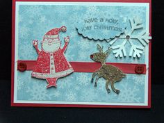 Christmas card handmade 3D with Santa by TheLanguageofPaper, $4.50