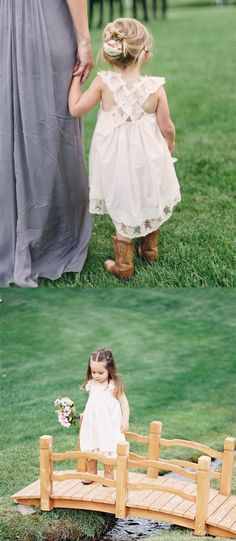 cute short flower girl dress, short ivory flower girl dress