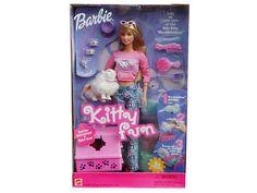 Kitty Fun Barbie, with little kitty, Marshmallow. 2001