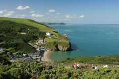 Llangrannog (or Llangranog) is a small, coastal village and seaside resort in Ceredigion West Wales, between Aberporth and New Quay.