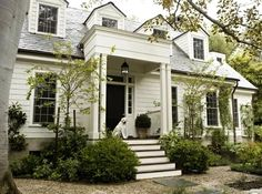 There's something entirely classic about white houses. I'd take the dog too ;-)