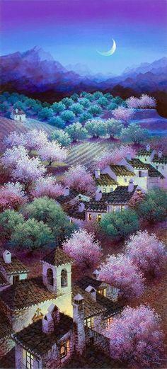Luis Romero | Spanish Spray Painter | Colorful Landscapes | 1948