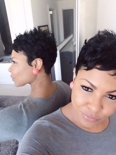 Making sure my DO is DONE! Short hair. Pixie cut.