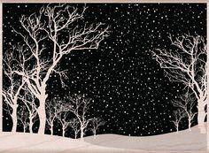 Art Scratchboard, Christmas Window Decorations, Scratch Art, Art Et Illustration, Winter Art, Chalkboard Art, Cool Landscapes, Arts And Crafts Supplies, Hero Arts