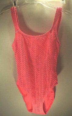 f9533591af CATALINA~Coral Pink 1-PIECE SWIMSUIT~Women's Size 10 - BUY NOW ONLY 12.99