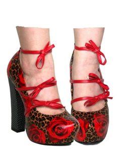 TOO-FAST-MARY-JANE-LADIES-PLATFORM-BLOCK-HEELS-ROSE-LEOPARD-PRINT-RED-R26B