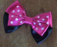 Disney Inspired Minnie Mouse Hair Bow red and by closetgeeksite
