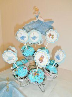 Detalhe dos cupcakes