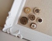 Button Magnet or Push Pin Collection Set in Neutrals and Browns - Great Holiday Stocking Stuffers for Her