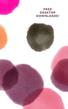 free desktop downloads, watercolor spots | designlovefest