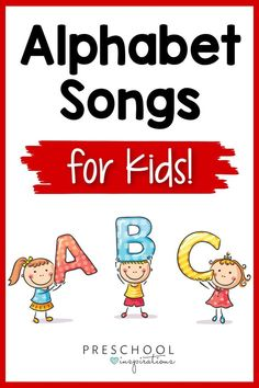 Learning the alphabet can be super tricky, but using something as simple as an ABC song, alphabet song, or alphabet chant can make all the difference! Alphabet Song For Kids, Abc Song For Kids, Alphabet Songs, Teaching The Alphabet, Preschool Alphabet, Alphabet Crafts, Alphabet Activities, Kindergarten Circle Time, Kindergarten Songs