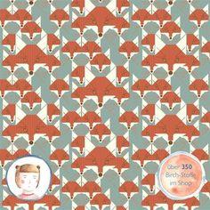 Designerstoffe USA - Birch Fabrics Jersey Bio Stoff Fuchs Foxsimilies - ein…