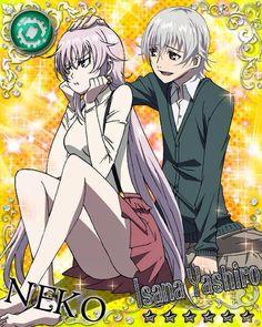 Neko and Isana Yashiro. K Project. #anime