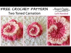 Two-Tone Carnation Free Crochet Pattern - Left Handed - YouTube