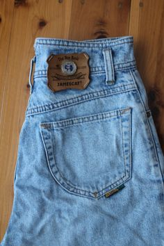 VINTAGE 90s Gorgeous High-waisted Light Blue Denim by vintagella3