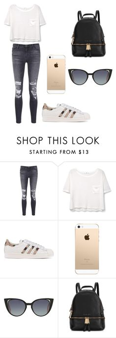 """"" by romygrift ❤ liked on Polyvore featuring J Brand, MANGO, adidas Originals, Fendi and Michael Kors"