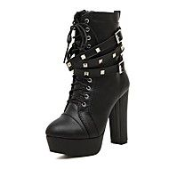 Women's Shoes Faux Leather Chunky Heel Fashion Boots/Round Toe Booties/Ankle Boots Boots Dress Black. Get super saving discounts up to 80% Off at Light in the Box with Coupon.
