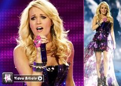 Carrie Underwood Blows Away Las Vegas -                                     Giving her fans a fantastic night,  Carrie Underwood played at the Mandalay Bay Event Center in Las Vegas on Saturday (March 2).  Decked out in a shiny, strapless purple dres