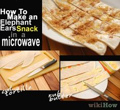 ELEPHANT EARS SNACK IN THE MICROWAVE!