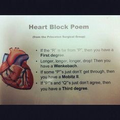 Heart block poem ! Perfect :D
