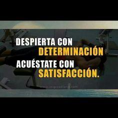 Determinación y satisfacción