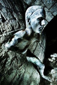 paris catacombs - not exactly a gargoyle, but...