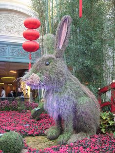 Who doesn't love a 10-foot tall grass bunny?