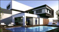 Busca imágenes de Casas de estilo moderno en blanco: Proyecto residencia Téllez. Encuentra las mejores fotos para inspirarte y crea tu hogar perfecto.