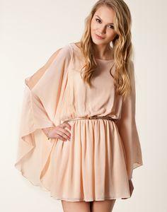Pink Split Long Sleeve Belt Dress US$33.30