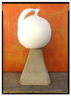 My blank orange for the Riverside Art Museum fundraiser . now what to paint on it . Fundraisers, Outsider Art, Art Museum, Folk Art, Sculpture, Pure Products, Orange, Painting, Popular Art