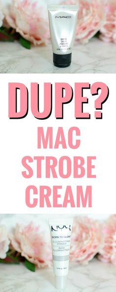 E l l e S e e s: Is It a Dupe? MAC Strobe Cream VS. NYX