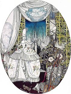 At Last the Time Came to Dance--Kay Nielsen--Vintage In Powder and Crinoline