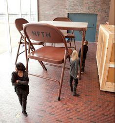 Robert Therrien's giant folding table and chairs