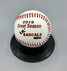 Love the font on this baseball! Personalize a ball with photos, logos and text! Great gift for coaches and players! Baseball Gifts, Sports Gifts, Senior Gifts, Coach Gifts, Coaches, Personalized Gifts, Great Gifts, Gift Ideas, Logos