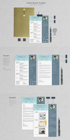 Charles Jilat Resume Template is a professionally designed Resume (CV), clean and modern resume, very easy-to-edit for everyone with clearly organized and labeled layers inside. Every element of this Resume is 100% editable to help you creating a professional good looking Resume to leave a positive impression.