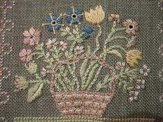 Flower basket, from Thistle Threads