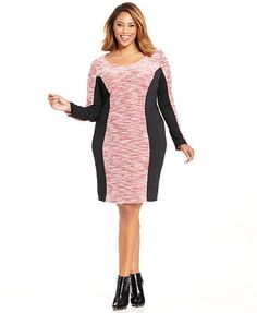 Love Squared Plus Size Marled-Knit Bodycon Dress