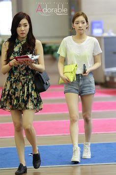 SNSD Tiffany and TaeYeon @ Airport