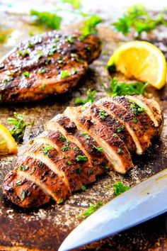 All Greek Marinated Chicken is SO juicy, tender and exploding with flavor from an EASY marinade! perfect for pitas, salads, pasta, rice/veggie etc. I love having this on hand!