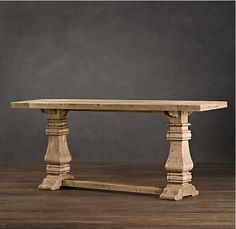 restoration hardware trestle console table decor look alikes