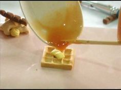 A tutorial on how to make a waffle with maple syrup and two pats of butter!     Song: White Horse (Instrumental version) - Taylor Swift