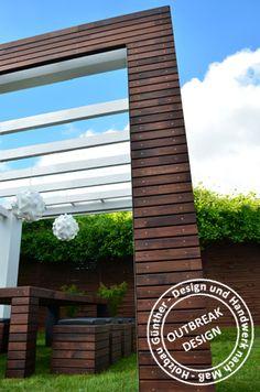 Hochzeitspavillon / Outdoor Lounge - Individualisierbar in Form, Farbe und Textur. Wählen Sie aus verschiedenen Holzarten,  farblicher Beschichtung und Lederoberflächen. Wir liefern deutschlandweit.