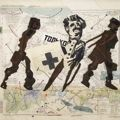 william kentridge's Augustine's Empire and all his work. this is a tapestry, truly amazing. done by the marguerite stephens weaving studio. love.