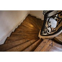 Paris Photography, Wooden Staircase Honey, Paris apartment stairs,... ($31) ❤ liked on Polyvore featuring home, home decor, wall art, wood wall art, paris wall art, brown wall art, brown home decor и wooden home decor