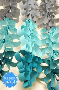 Party Printables | Party Ideas | Party Planning | Party Crafts | Party Recipes | BLOG Bird's Party: TUTORIAL: Anthropologie Inspired Scroll Garland - Perfect for Hanukkah!