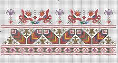 Creative Embroidery, Folk Embroidery, Cross Stitch Embroidery, Embroidery Patterns, Cross Stitch Borders, Cross Stitch Rose, Cross Stitch Patterns, Free Design, Folk Art