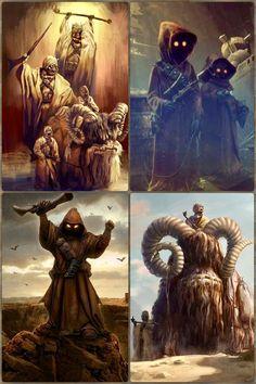 Jawas and Tusken Raiders Star Wars